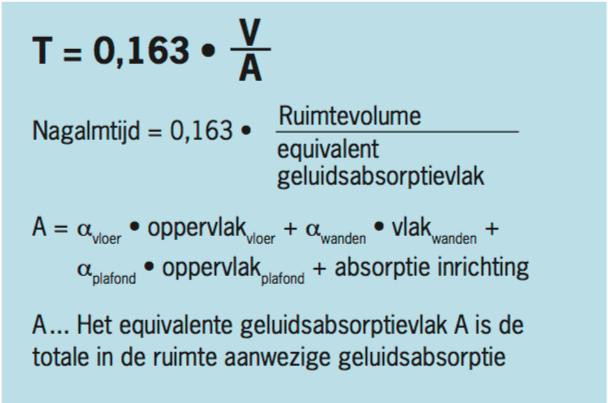 akoestiek-berekenen-formule